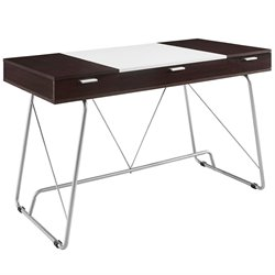 Modway Panel Writing Desk in Cherry