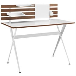 Modway Knack Panel Writing Desk in Cherry