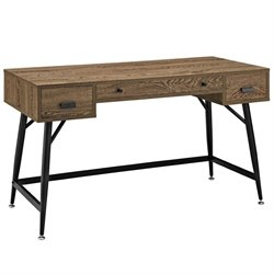 Modway Surplus Modern Office Desk in Walnut