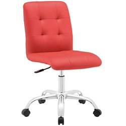 Modway Prim Mid Back Armless Swivel Office Chair
