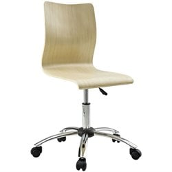 Modway Fashion Armless Swivel Office Chair in Natural