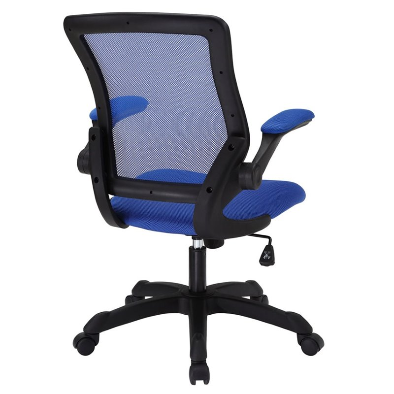 Modway veer mesh office chair in blue eei 825 blu for Blue mesh chaise lounge