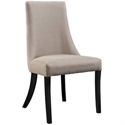 Modway Reverie Linen Dining Side Chair in Beige
