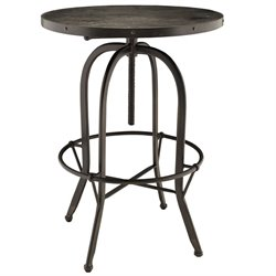 Modway Sylvan Round Adjustable Pub Table