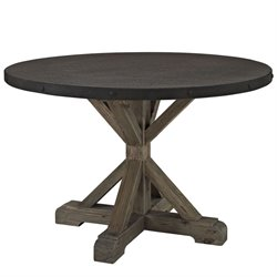 Modway Stitch Round Dining Table in Brown