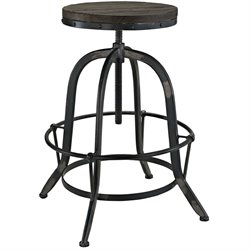 Modway Collect Adjustable Bar Stool in Black