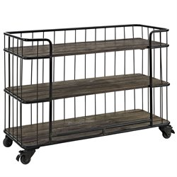 Modway Cinch Bar Cart in Brown