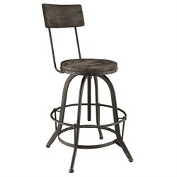 Modway Procure Adjustable Bar Stool in Black