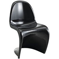 Modway Slither Dining Side Chair in Black
