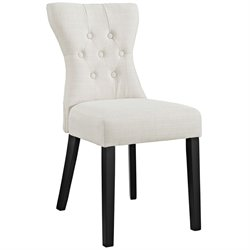 Modway Silhouette Dining Side Chair in Beige