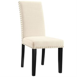 Modway Parcel Dining Side Chair in Beige