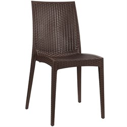 Modway Intrepid Dining Side Chair in Coffee