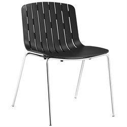 Modway Trace Dining Side Chair in Black