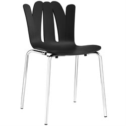 Modway Flare Dining Side Chair in Black
