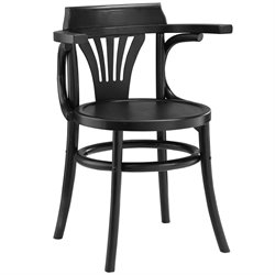 Modway Stretch Dining Side Chair in Black