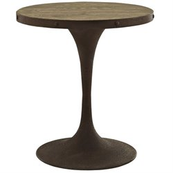 Modway Drive Round Dining Table in Brown
