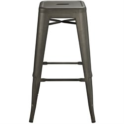 Modway Promenade Metal Bar Stool in Brown