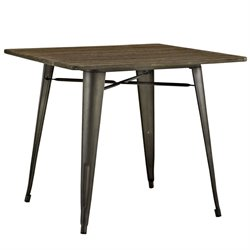 Modway Alacrity Dining Table in Brown