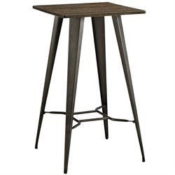 Modway Direct Square Pub Table in Brown
