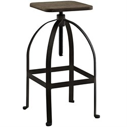 Modway Pointe Adjustable Bar Stool in Brown