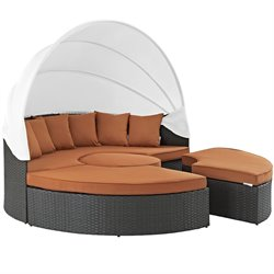 Modway Sojourn Patio Canopy Daybed in Canvas Tuscan