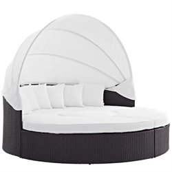 Modway Convene Patio Canopy Daybed in Espresso and White
