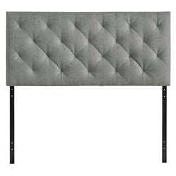 Modway Theodore Queen Tufted Panel Headboard in Gray