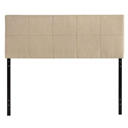 Modway Oliver Upholstered Queen Panel Headboard in Beige