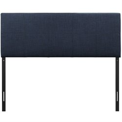 Modway Oliver Upholstered Queen Panel Headboard in Navy
