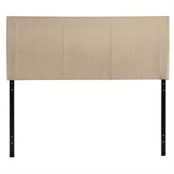Modway Isabella Upholstered Queen Panel Headboard in Beige