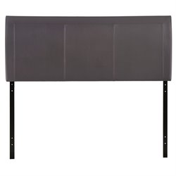 Modway Isabella Queen Vinyl Panel Headboard in Brown