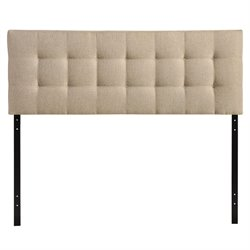 Modway Lily King Tufted Panel Headboard in Beige