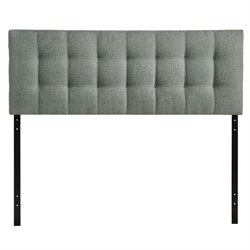Modway Lily Tufted Panel Headboard in Gray