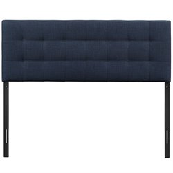 Modway Lily King Tufted Panel Headboard in Navy