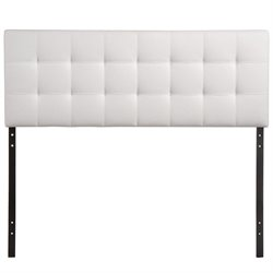 Modway Lily King Vinyl Tufted Panel Headboard in White