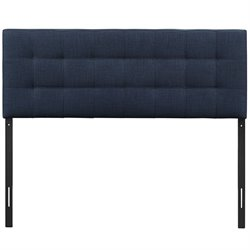 Modway Lily Full Tufted Panel Headboard in Navy