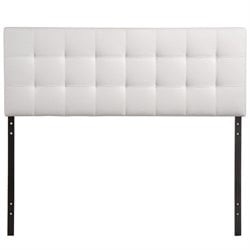 Modway Lily Full Vinyl Tufted Panel Headboard in White