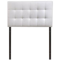 Modway Lily Twin Vinyl Tufted Panel Headboard in White