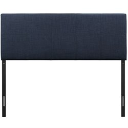 Modway Oliver Upholstered Full Panel Headboard in Navy