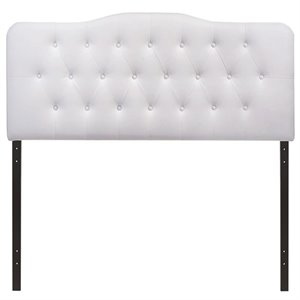 Modway Annabel Tufted Panel Headboard in White