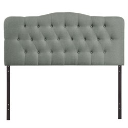 Modway Annabel Full Tufted Panel Headboard in Gray