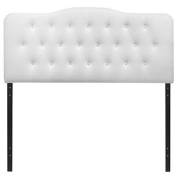Modway Annabel King Tufted Panel Headboard in White