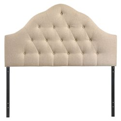Modway Sovereign Tufted Panel Headboard in Beige