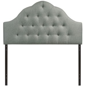 Modway Sovereign Tufted Panel Headboard in Gray