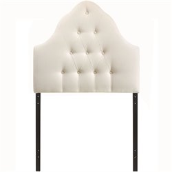 Modway Sovereign Tufted Panel Headboard in Ivory
