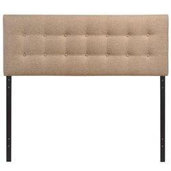 Modway Emily Upholstered Queen Panel Headboard in Beige