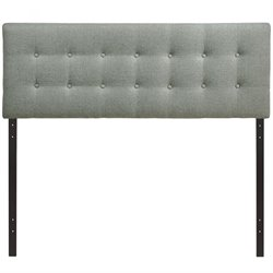 Modway Emily Upholstered Queen Panel Headboard in Gray