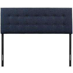 Modway Emily Upholstered Queen Panel Headboard in Navy