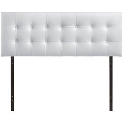 Modway Emily Queen Vinyl Panel Headboard in White