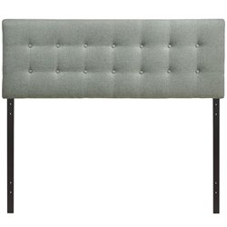 Modway Emily Upholstered Full Panel Headboard in Gray